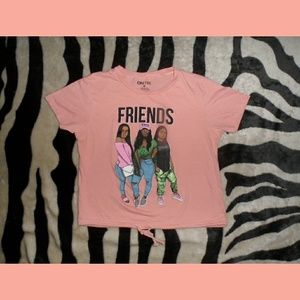 FRIENDS T-Shirt Melanin Uh Huh Honey Crop Top